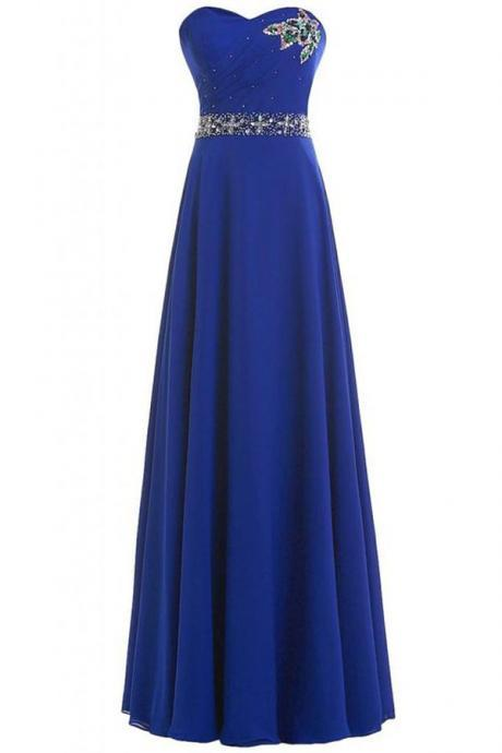Prom Gown,Royal blue Prom Dresses,Evening Gowns,Formal Dresses,Royal blue Prom Dresses MT20180261