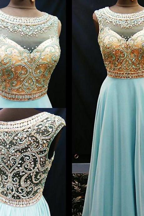 cheap prom dress, long blue Prom Dresses, 2018 Evening Gown, beaded prom dress,formal evening dress, formal evening gown MT20180273